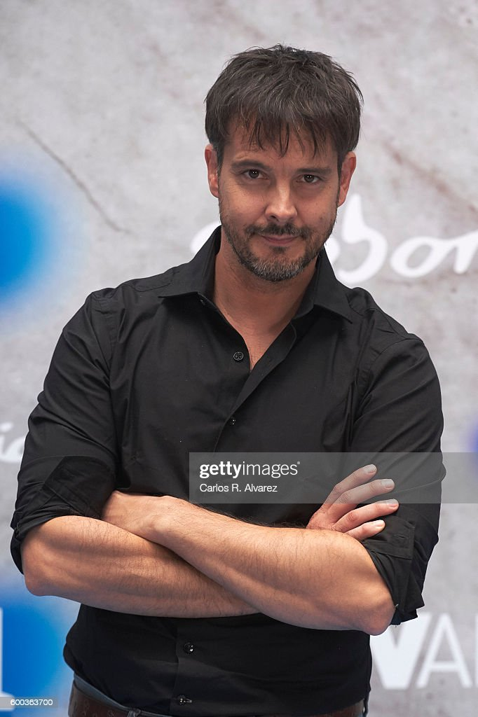 Actor David Jenner Attends Aguila Roja Photocall At The Escoriaza