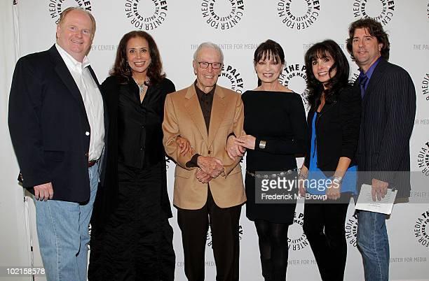 Actor David Joliffe actress Denise Nicholas executive producer/director Gene Reynolds and actresses Karen Valentine and Judy Strangis and moderator...