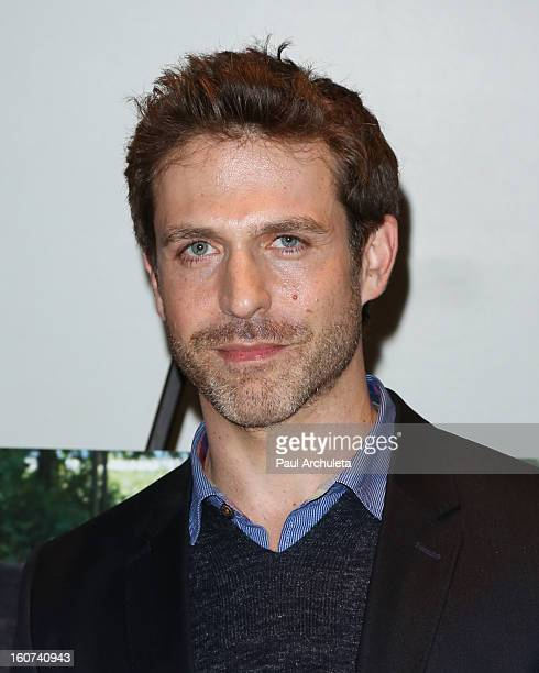 Actor David Julian Hirsh attends the Twist Of Faith Los Angeles premiere at the Stephen S Wise temple on February 4 2013 in Los Angeles California