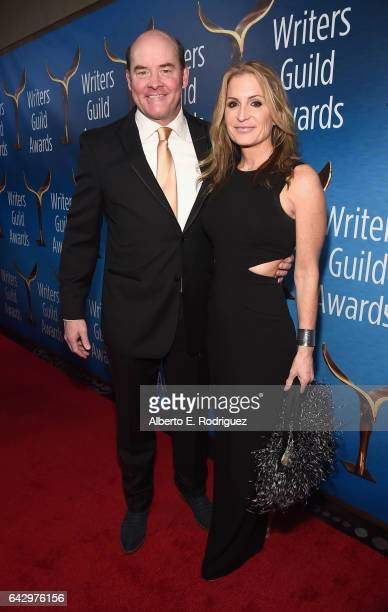 Actor David Koechner and Leigh Koechner attend the 2017 Writers Guild Awards LA Ceremony at The Beverly Hilton Hotel on February 19 2017 in Beverly...