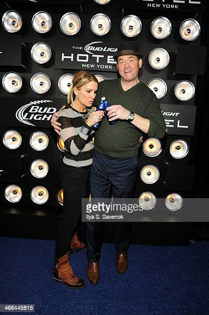 Actor David Koechner and Leigh Koechner attend the Bud Light Hotel on February 1 2014 in New York City