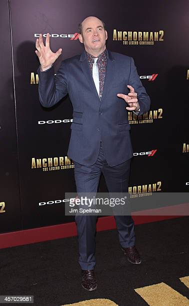Actor David Koechner attends the Anchorman 2 The Legend Continues US premiere at Beacon Theatre on December 15 2013 in New York City