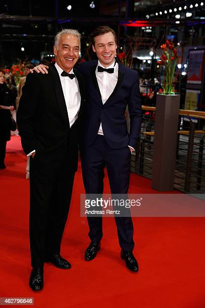 Actor David Kross and actor Christoph M Ohrt attend the 'Nobody Wants the Night' premiere and Opening Ceremony of the 65th Berlinale International...