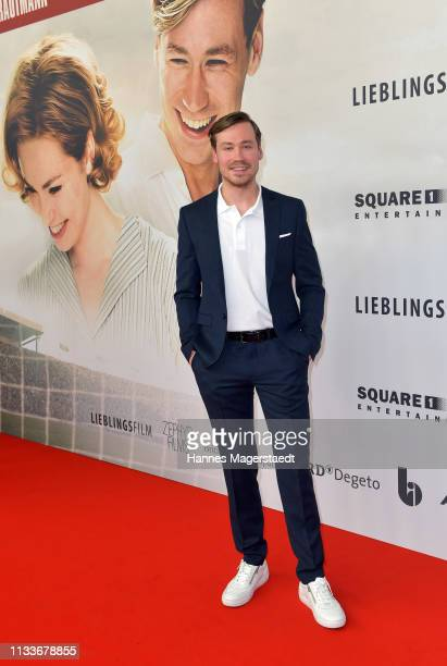 Actor David Kross attends the premiere of the film Trautmann at Mathaeser Filmpalast on March 4 2019 in Munich Germany