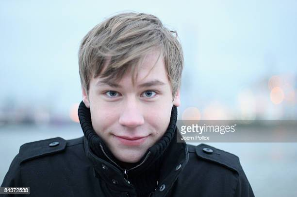 Actor David Kross poses during a photocall for the movie 'same same but different' on January 20 2009 in Hamburg Germany
