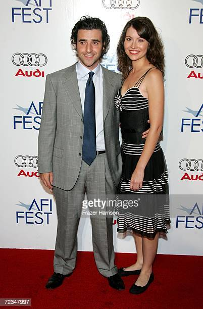 Actor David Krumholtz and actress Vanessa Britting arrives at the AFI FEST presented by Audi opening night gala of Bobby at the Grauman's Chinese...
