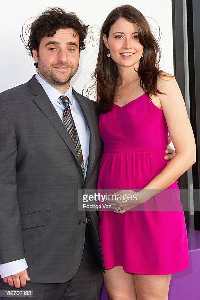Actor David Krumholtz and Vanessa Britting arrive at the 30th Annual Breeders' Cup Songs in The Saddle at Santa Anita Park Racetrack on November 2...