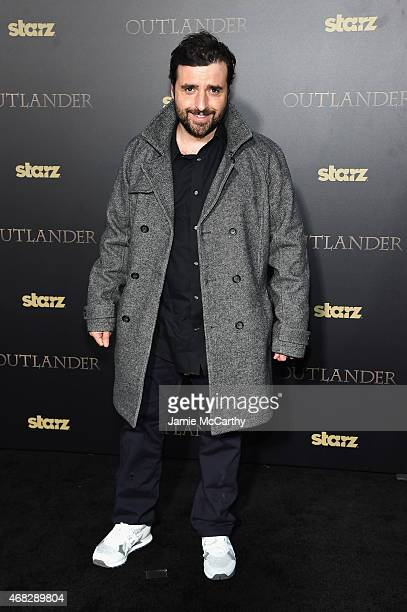 Actor David Krumholtz attends the 'Outlander' midseason New York premiere at Ziegfeld Theater on April 1 2015 in New York City