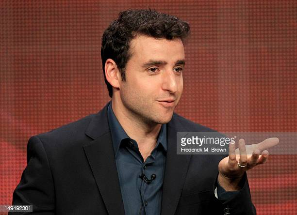 Actor David Krumholtz speaks at the 'Partners' discussion panel during the CBS portion of the 2012 Summer Television Critics Association tour at the...
