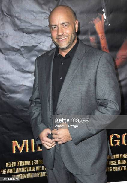 Actor David L Peters arrives for the Los Angeles Premiere of 'Miles To Go' held at Writers Guild Theater on April 5 2018 in Beverly Hills California