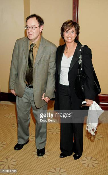 Actor David Lander and his wife Kathy Lander pose for a portrait during the The National Multiple Sclerosis Society's 30th Annual Dinner of Champions...
