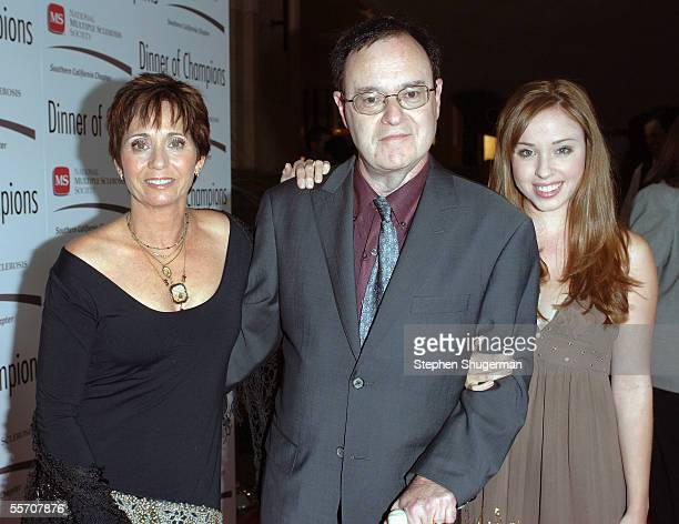 Actor David Lander his wife Kathy and daughter Natalie attend the Dinner of Champions Concert at the Kodak at the Kodak Theater on September 16 2005...