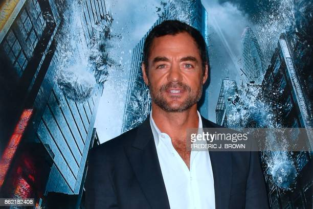 Actor David Lee arrives for the World Premiere of the film Geostorm in Hollywood California on October 16 2017 Geostorm opens in theaters on October...