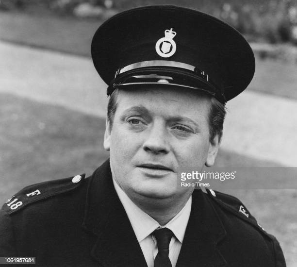 Actor David Lloyd Meredith in police uniform in a scene from the television series 'Softly Softly Taskforce' circa 1973