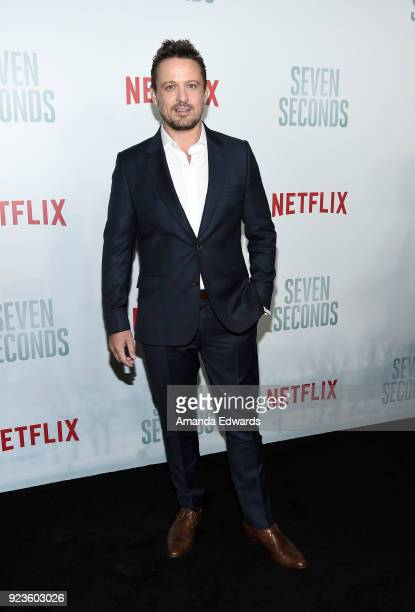 Actor David Lyons arrives at Netflix's 'Seven Seconds' Premiere at The Paley Center for Media on February 23 2018 in Beverly Hills California