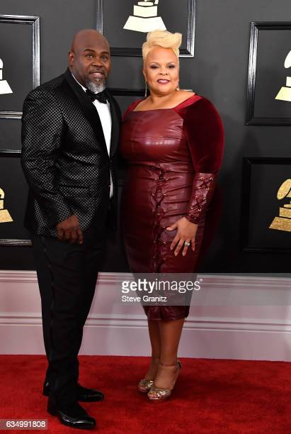 Actor David Mann and gospel singer Tamela Mann attends The 59th GRAMMY Awards at STAPLES Center on February 12 2017 in Los Angeles California