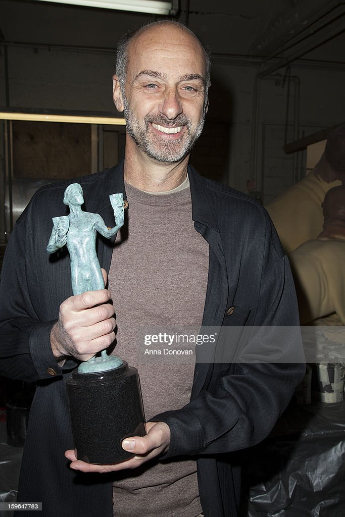 Actor David Marciano attends the 19th Annual SAG Awards 2013 SAG Actor Pouring at American Fine Arts Foundry on January 17, 2013 in Burbank, California.
