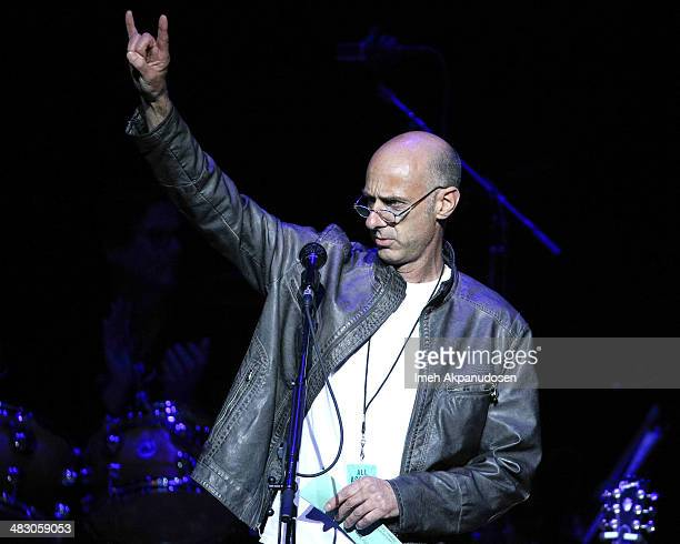 Actor David Marciano speaks onstage at the 2nd Light Up The Blues Concert An Evening Of Music To Benefit Autism Speaks at The Theatre At Ace Hotel on...