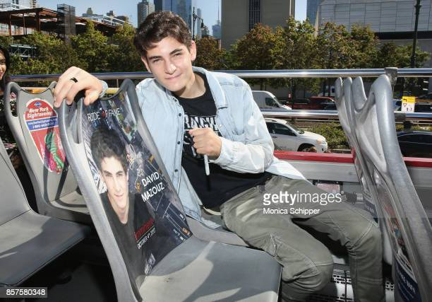 Actor David Mazouz Gotham's Bruce Wayne receives his Ride Of Fame Imminent Seat at Pier 78 on October 4 2017 in New York City