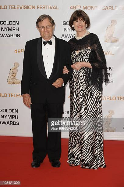 S Actor David McCallum and his wife Katherine Carpenter attend the closing ceremony of the 2009 Monte Carlo Television Festival at Grimaldi in Monte...