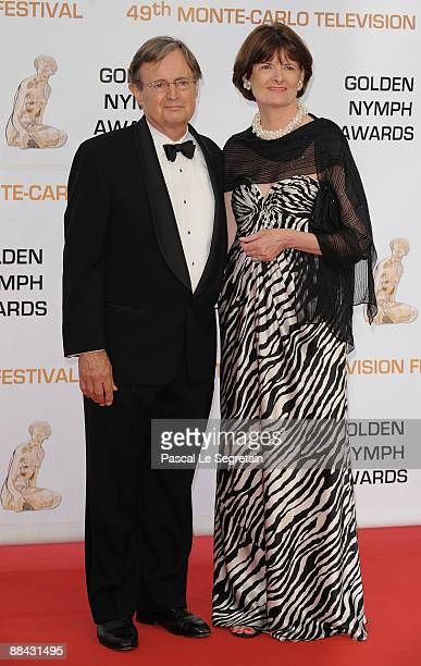 S Actor David McCallum and his wife Katherine Carpenter attend the closing ceremony of the 2009 Monte Carlo Television Festival at Grimaldi Forum on...