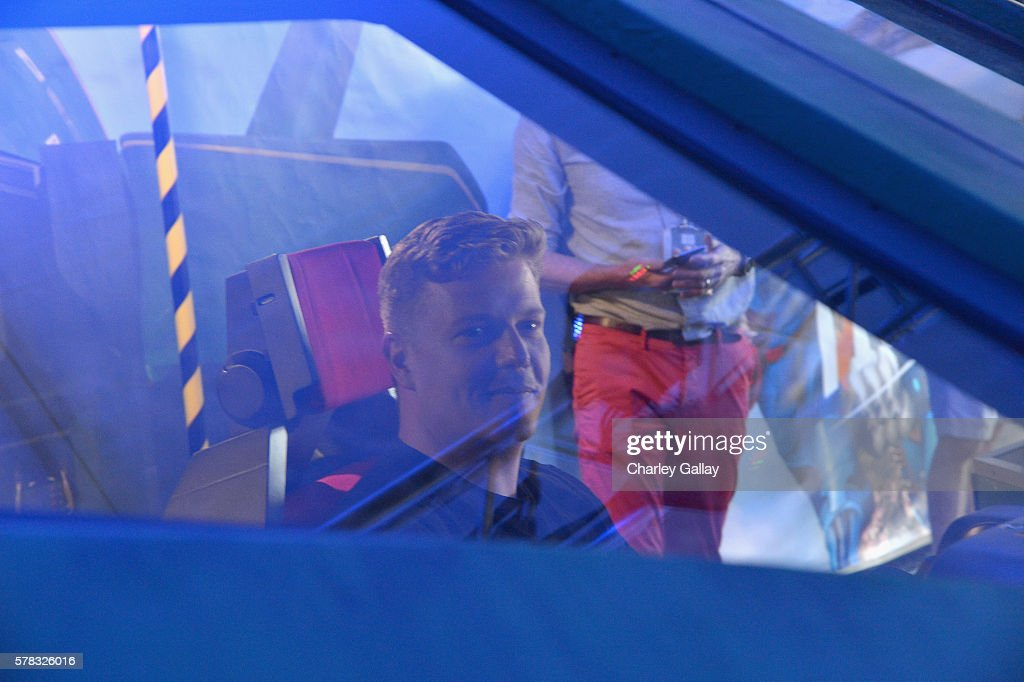 Actor David Menkin of 'Thunderbirds are Go' attends the Amazon Village At San Diego Comic-Con at San Diego Convention Center on July 21, 2016 in San Diego, California.