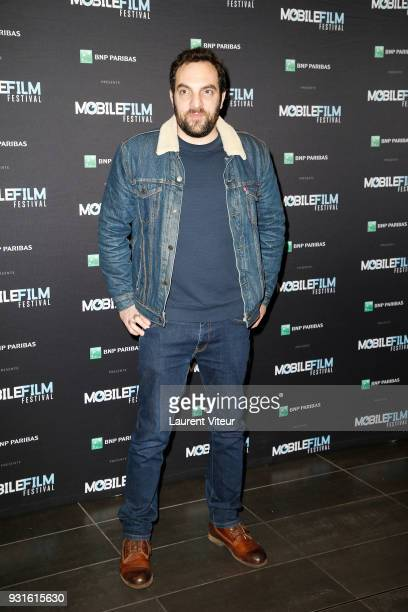 Actor David Mora attends Mobile Film Festival 2018 at Mk2 Bibliotheque on March 13 2018 in Paris France