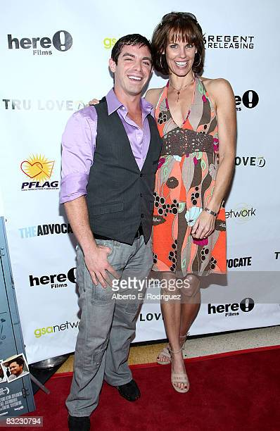 Actor David Moretti and actress Alexandra Paul arrive at the premiere of Regent Entertainment's 'Tru Loved' held at the Regent Showcase Theater on...