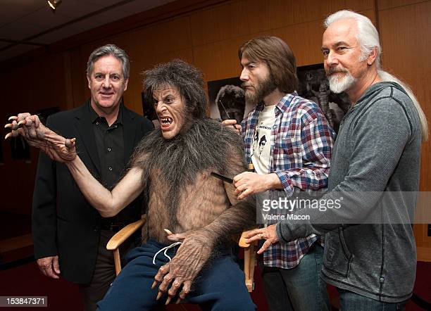 Actor David Naughton and makeup artist Rick Baker attend The Academy of Motion Picture Arts and Sciences' screening of 'The Wolf Man' and 'An...