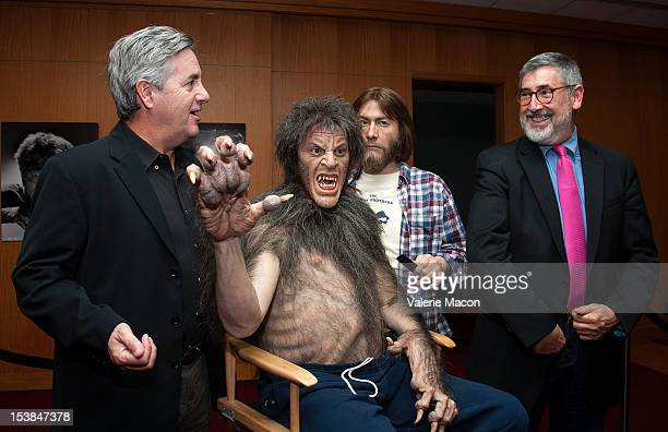 Actor David Naughton and producer John Landis attend The Academy of Motion Picture Arts and Sciences' screening of 'The Wolf Man' and 'An American...