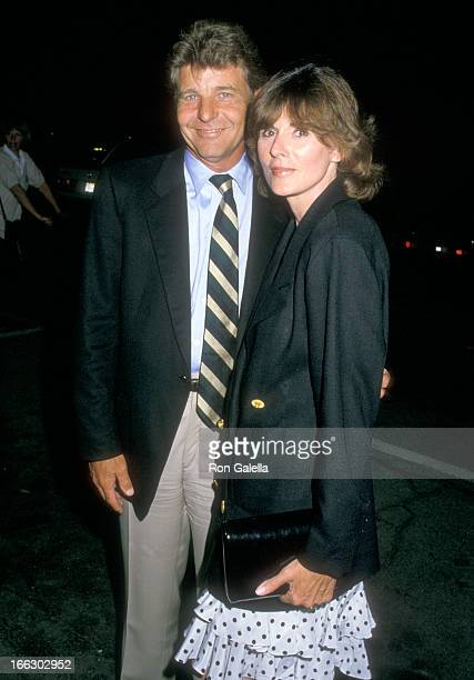 Actor David Nelson and wife Yvonne O'Connor Huston on August 25 1988 dining at La Famiglia Restaurant in Beverly Hills California