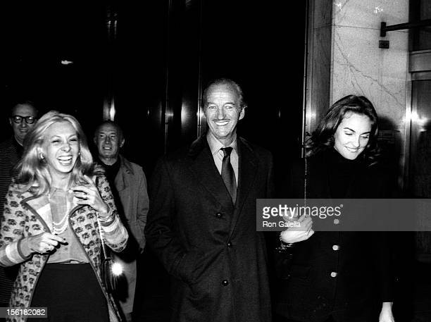 Actor David Niven and date Ann Todd sighted on October 27 1972 at Club 21 in New York City