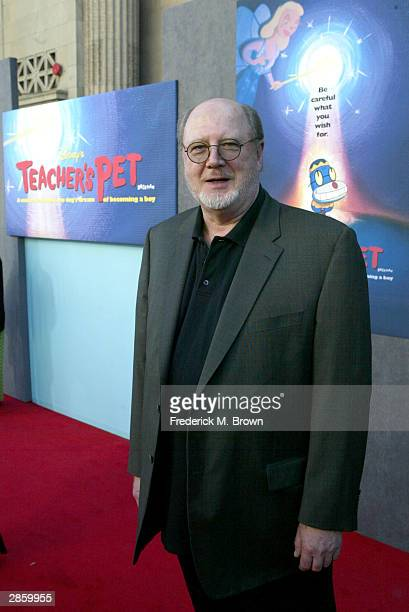 Actor David Ogden Stiers attends the film premiere of the'Teacher's Pet' at the El Capitan Theatre on January 11 2004 in Hollywood California The...