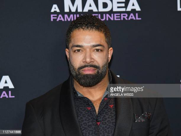 Actor David Otunga attends the NY special screening for Tyler Perry's 'A Madea Family Funeral' at SVA Theater on February 25 2019 in New York City