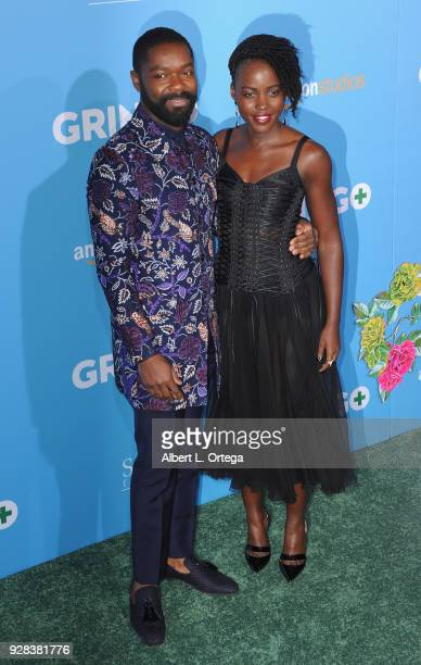 Actor David Oyelowo and actress Lupita Nyong'o arrive for the Premiere Of Amazon Studios And STX Films' 'Gringo' held at Regal LA Live Stadium 14 on...