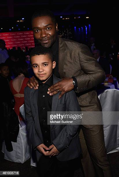 Actor David Oyelowo and Caleb Oyelowo attend the 26th Annual Palm Springs International Film Festival Awards Gala at Palm Springs Convention Center...