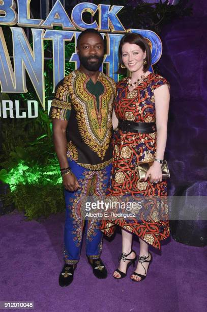Actor David Oyelowo and Jessica Oyelowo at the Los Angeles World Premiere of Marvel Studios' BLACK PANTHER at Dolby Theatre on January 29 2018 in...