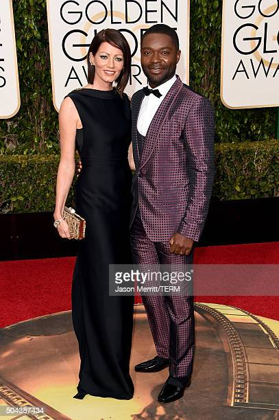 Actor David Oyelowo and Jessica Oyelowo attend the 73rd Annual Golden Globe Awards held at the Beverly Hilton Hotel on January 10 2016 in Beverly...