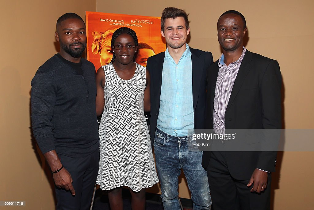 David Oyelowo Participates In A QUEEN OF KATWE Q&A With Real Life Film Subjects Robert Katende And Phiona Mutesi Along With World Chess Champion Magnus Carlsen At A Special Screening For The Chess Community In New York