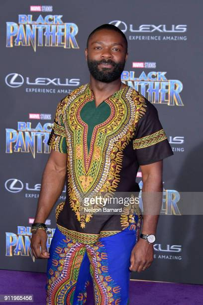 Actor David Oyelowo attends the premiere of Disney and Marvel's 'Black Panther' at Dolby Theatre on January 29 2018 in Hollywood California