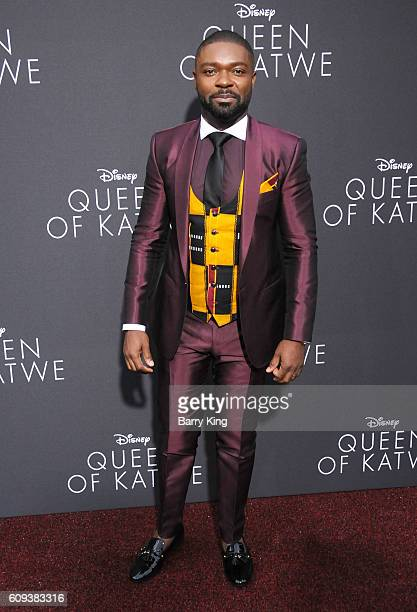 Actor David Oyelowo attends the premiere of Disney's 'Queen Of Katwe' at the El Capitan Theatre on September 20 2016 in Hollywood California