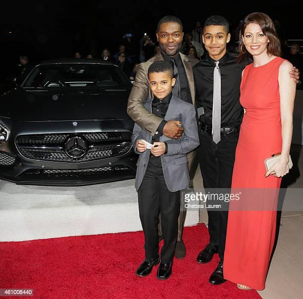 Actor David Oyelowo Caleb Oyelowo Asher Oyolewo and Jessica Oyelowo arrive with MercedesBenz at the 26th annual Palm Springs International Film...