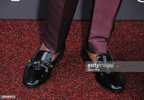 Actor David Oyelowo shoe detail attends the premiere of Disney's 'Queen Of Katwe' at the El Capitan Theatre on September 20 2016 in Hollywood...