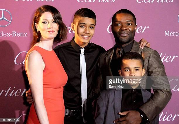 Actor David Oyelowo wife Jessica Oyelowo and sons Caleb Oyelowo and Asher Oyelowo arrive at the 26th Annual Palm Springs International Film Festival...