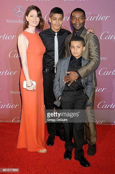 Actor David Oyelowo wife Jessica Oyelowo sons Asher Oyelowo and Caleb Oyelowo arrive at the 26th Annual Palm Springs International Film Festival...