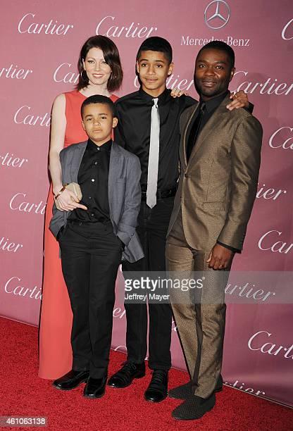 Actor David Oyelowo wife Jessica Oyelowo sons Asher Oyelowo and Caleb Oyelowo attend the 26th Annual Palm Springs International Film Festival Awards...