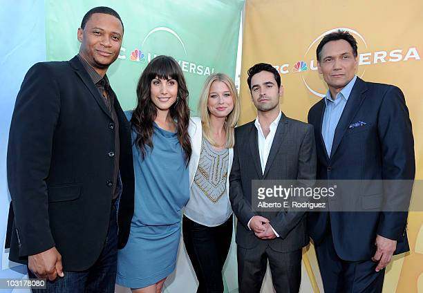 Actor David Ramsey, actress Carly Pope, actress EllenWoglom, actor Jesse Bradford and actor Jimmy Smits arrive to NBC Universal's 2010 TCA Summer...