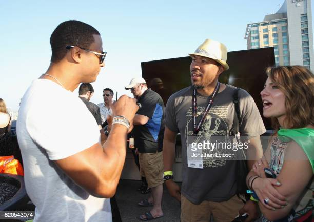 Actor David Ramsey and guests at BuzzFeed The CW Present SRSLY The Best Damn Superhero Party on July 21 2017 in San Diego California