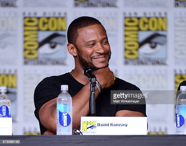 Actor David Ramsey attends the Arrow Special Video Presentation and QA during ComicCon International 2016 at San Diego Convention Center on July 23...
