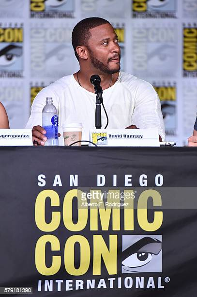 Actor David Ramsey attends TV Guide Magazine's Fan Favorites during Comic Con 2016 at San Diego Convention Center on July 22 2016 in San Diego...